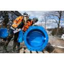 Spara på vattnet i helgen – vi kopplar in en ny stor vattenledning