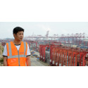 Panalpina employee at the port of Shanghai, China