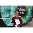 Chichester student urges others to take advantage of free eye test initiative as Vision Van visits the City for World Glaucoma Week