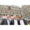 Focus on sustainability: STRABAG and ZÜBLIN celebrate topping-out ceremony for new corporate building in Stuttgart
