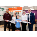 Local family share young son's battle with rare eye cancer at opening of new optician