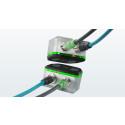 Trådlös överföring av Profinet/EtherCat/Powerlink och 24VDC matning med NearFi