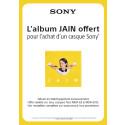 L'album JAIN offert pour tout achat d'un casque Sony !