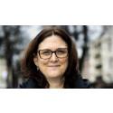 Cecilia Malmström i samtal om världshandeln