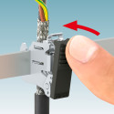 Shield clamps for one-handed tool-free operation