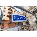 SVEAB Anläggning monterar pollare vid Wahrendorffsgatan