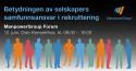 ManpowerGroup Forum 12. juni - Betydningen av selskapers samfunnsansvar i rekruttering