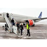 DAGEN EFTER BREXIT - IDAG LANDADE DET FÖRSTA LONDONFLYGET PÅ SCANDINAVIAN MOUNTAINS AIRPORT