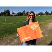 Viktoria ger sin del av Kundmiljonen till FC Norrsken