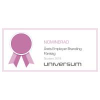 """Sodexo nominerat till """"Årets employer branding-företag 2019"""""""