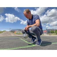 Världspremiär för fallvänlig asfalt på cykelväg i Lund