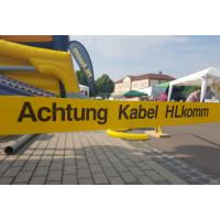 HL komm präsentiert sich auf Schkeuditzer Stadtfest