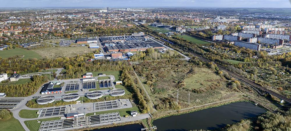 Källby och Klostergården från söder