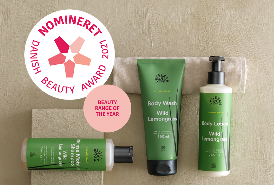 Urtekram nominerat i Danish Beauty Award och Organic Beauty Awards!