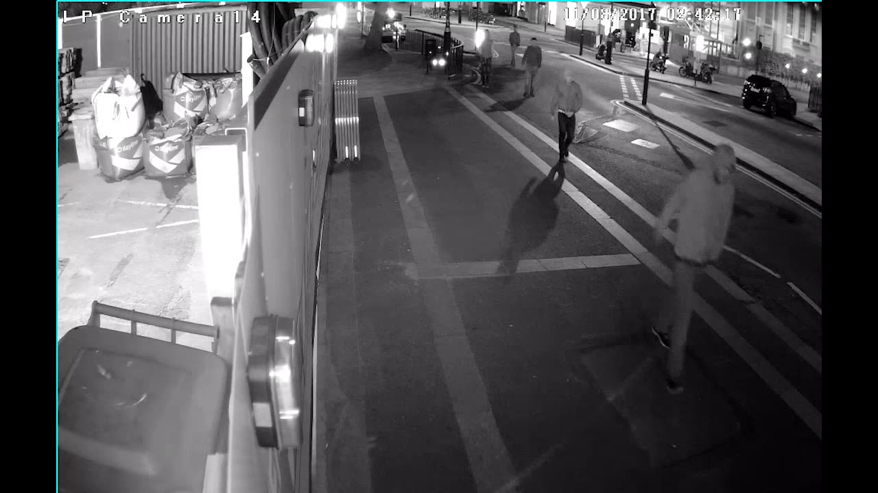 CCTV footage of six men and a woman whom police would like to speak to