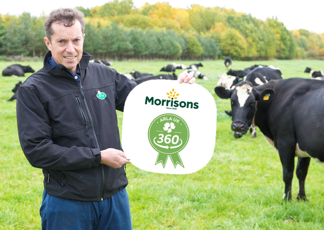 Morrisons signs up to Arla UK 360 farm standards programme supporting over 200 farmers to develop and deliver best practice on farm