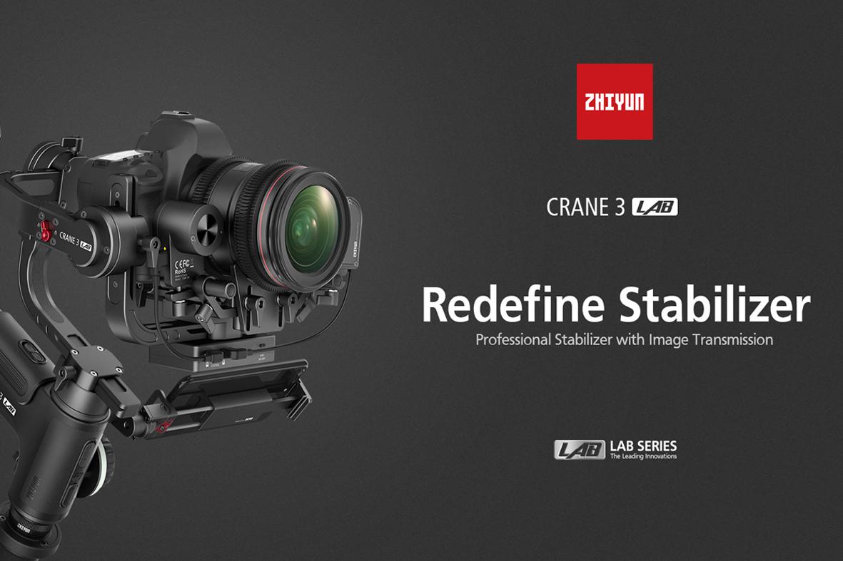 Jaunais Zhiyun Crane 3 LAB - ātrāks un izturīgāks stabilizators ar inovatīvu dizainu
