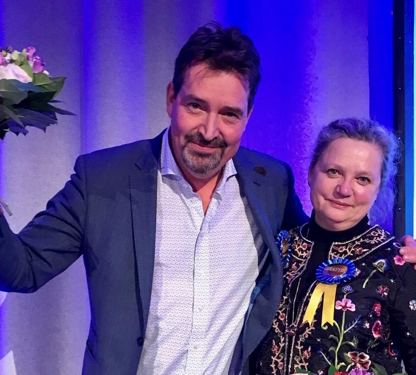 Johan Wester och Ulla Boström Hjorth prisades för sitt engagemang för Lund som mötesdestination.