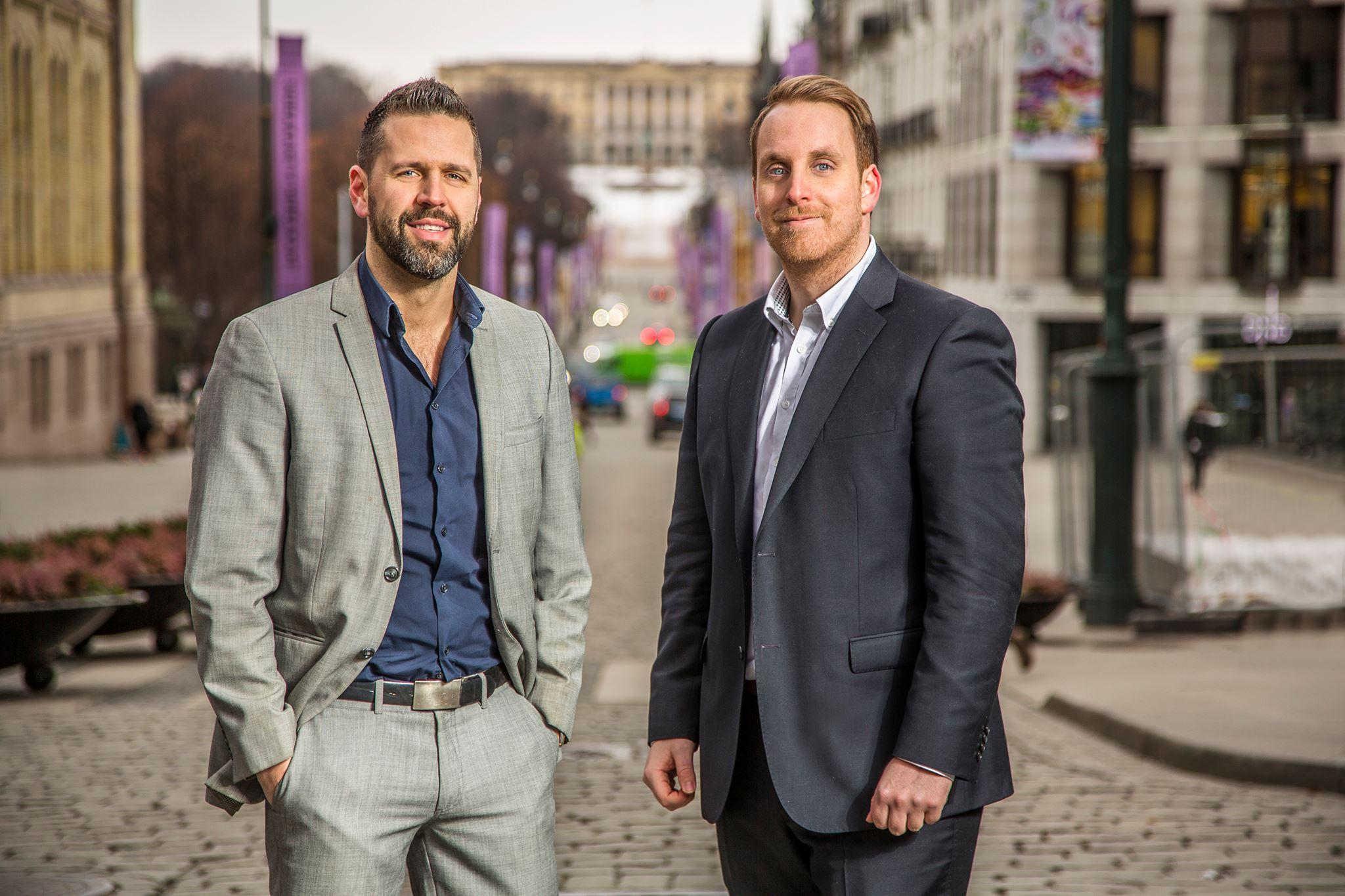 Fra venstre: Richard Hellerud og  Anders W. Lunde