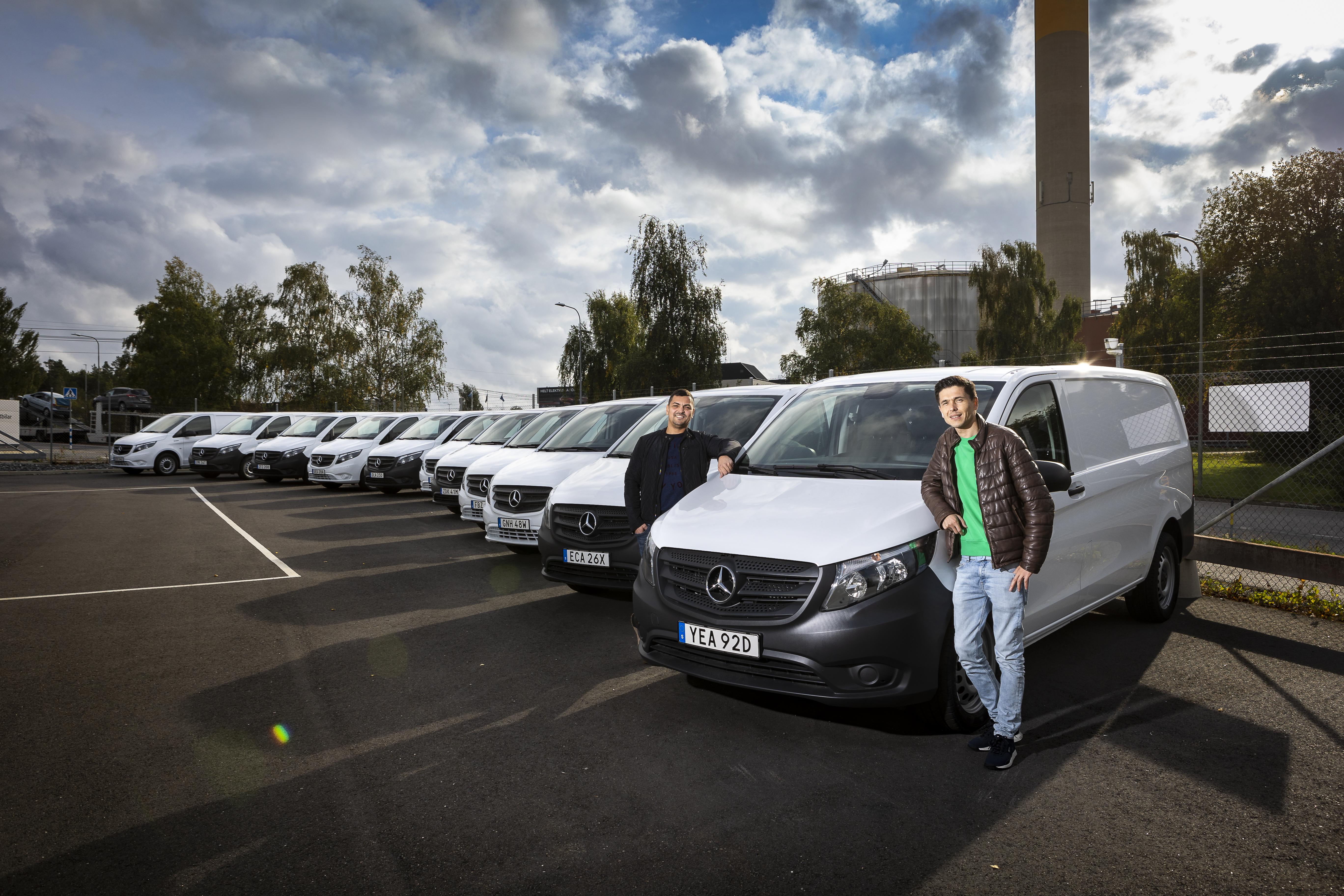 11 eldrivna Mercedes-Benz till snabbväxande budföretag