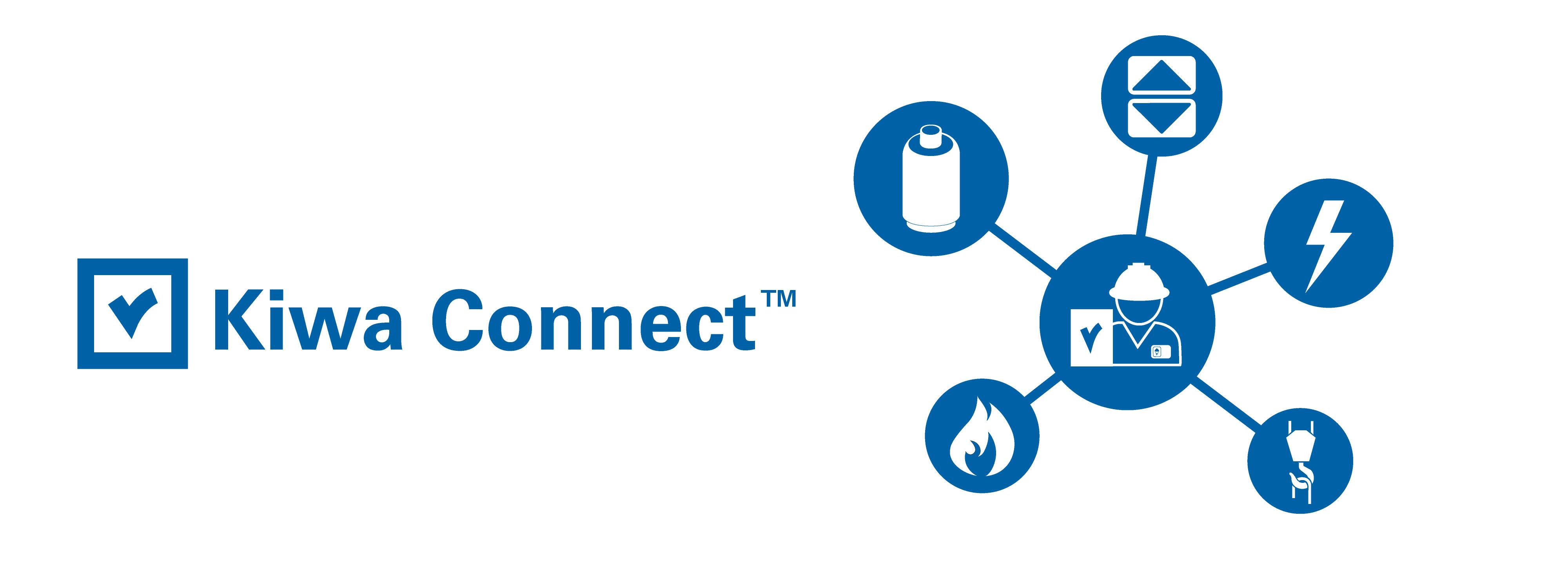 Kiwa Connect™ -palvelusta asiakkaat näkevät tarkastettavien laitteistojen tilan ja pystyvät tutkimaan mitkä laitteet on tarkastettava seuraavana vuotena.