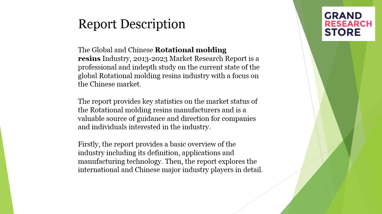 Rotational molding resins industry market research report 2018