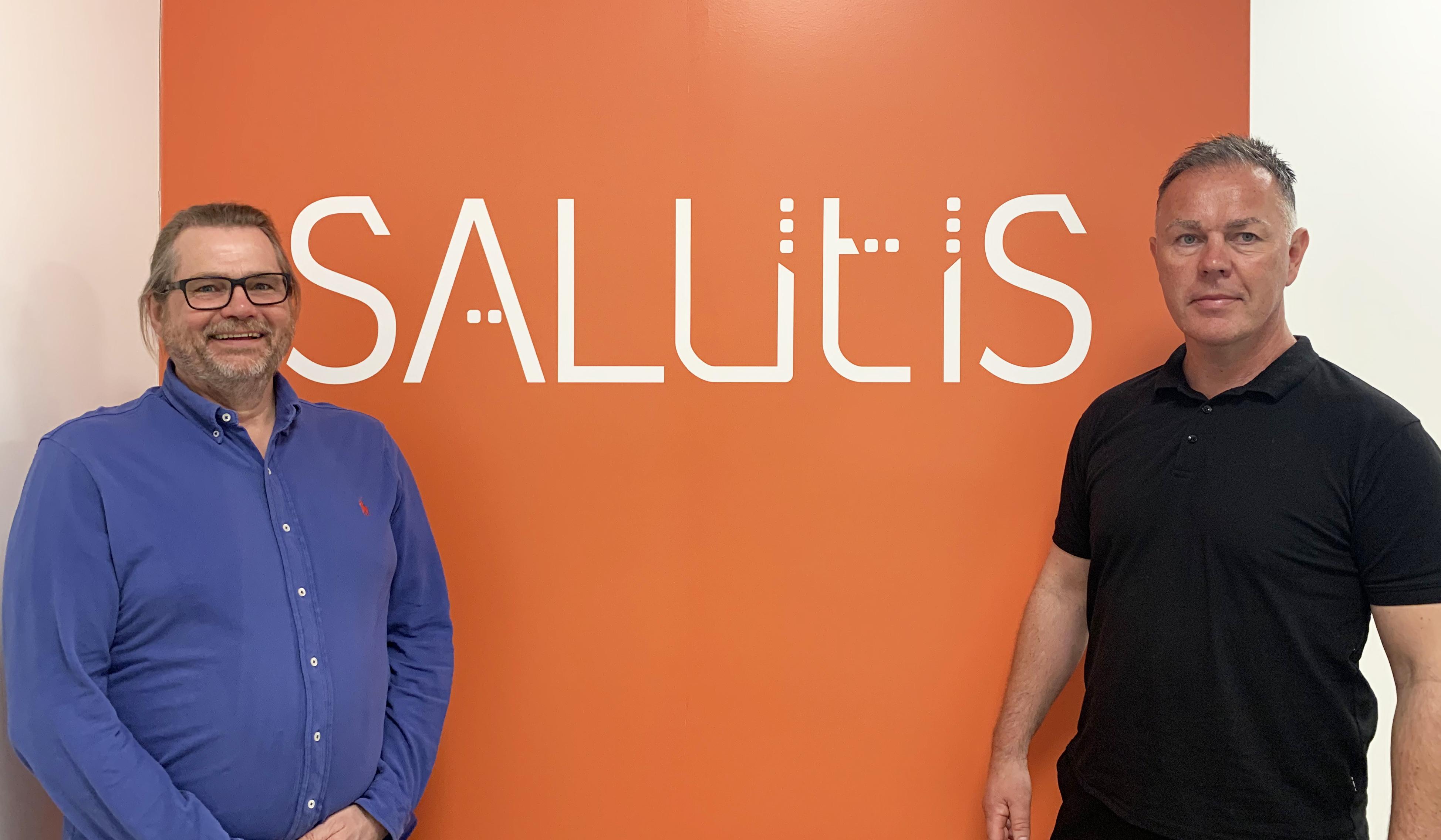 Daglig leder Trond Grønvold (t.h.) og utviklingsleder Knut Hellwege i Salutis HMS har gode erfaringer med ISO-sertifisering.