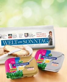 Arla Kærgården und WELT am SONNTAG –  die Top-Meldung im Kühlregal!