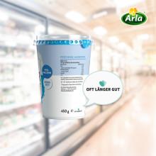 """Ein Zeichen gegen Lebensmittelverschwendung – Zusatz """"Oft länger gut"""" bereits auf zahlreichen Arla Produkten"""