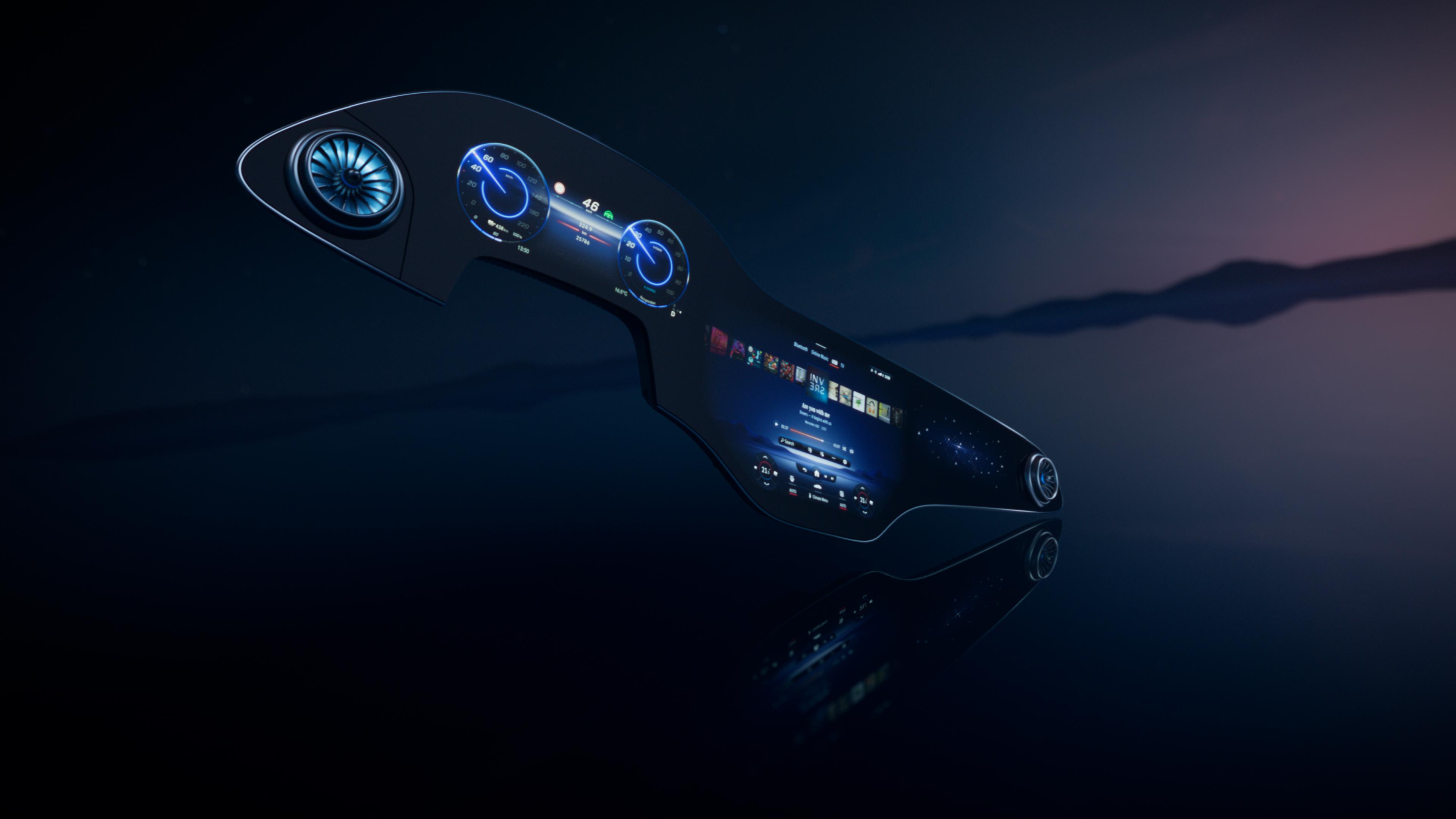 1,4 meter bred skärm i nya Mercedes-Benz EQS
