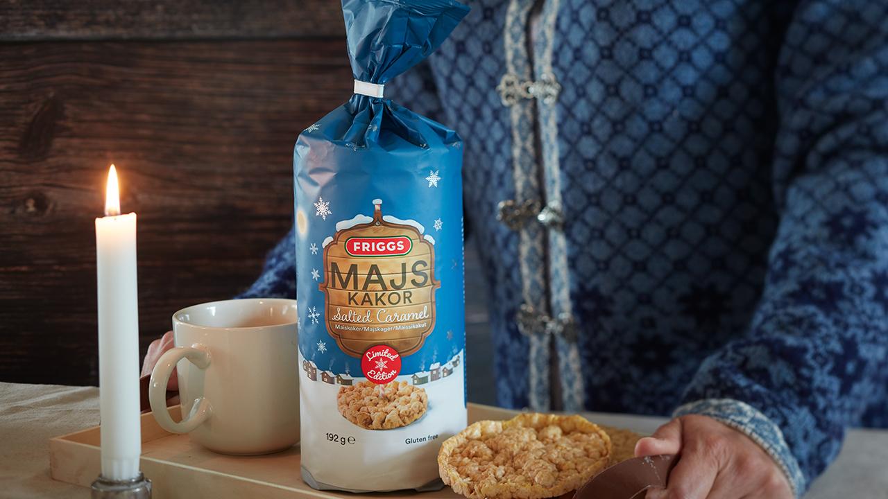Nyhet: Friggs Maiskaker Salted Caramel – perfekt snacks i mørketiden!