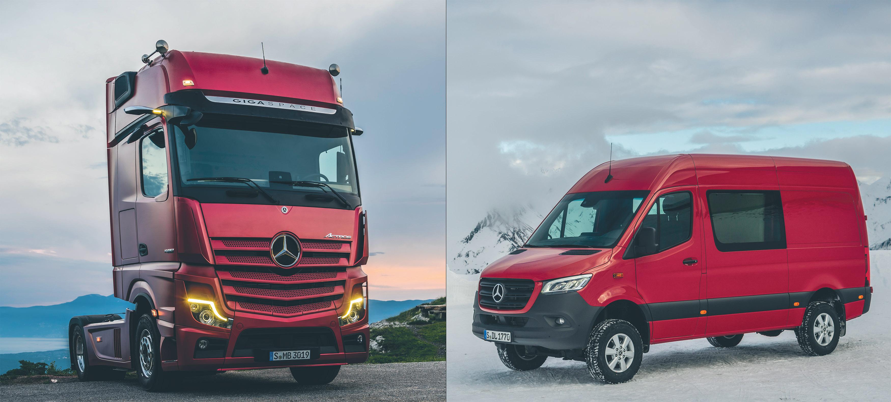 Bra år för Mercedes kommersiella fordon