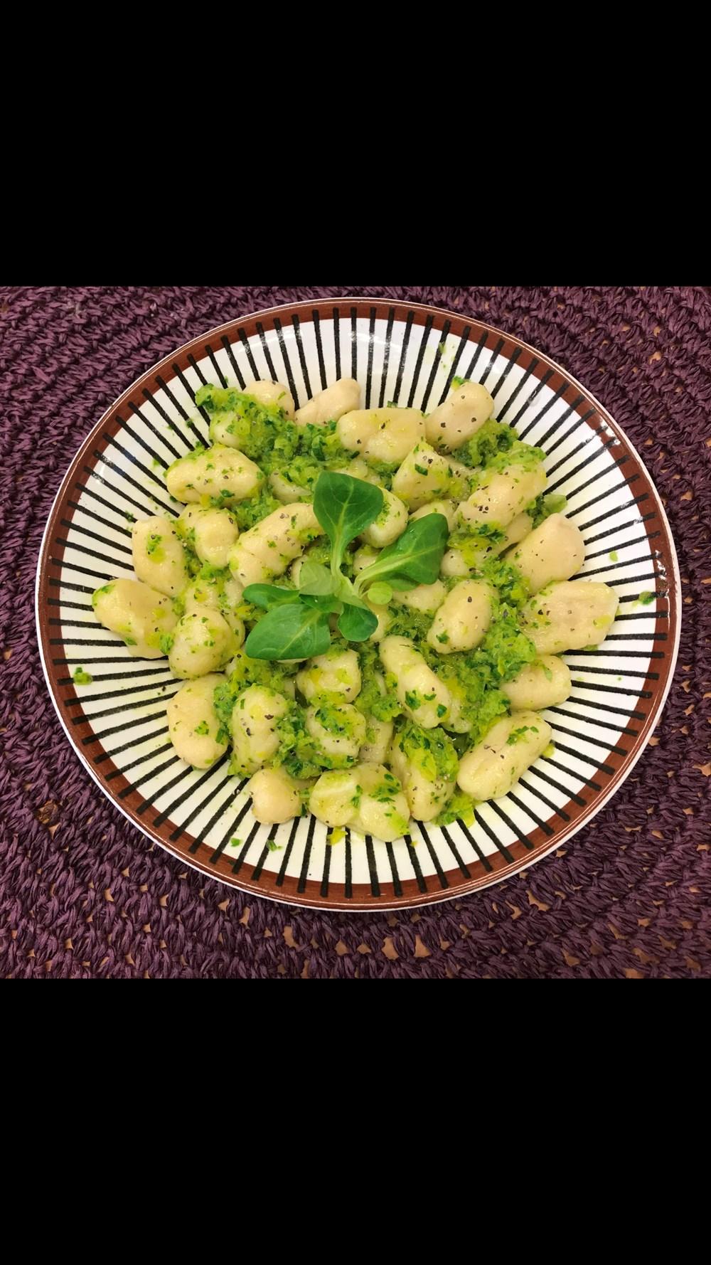 Gnocchi på överblivna grönsaker-223