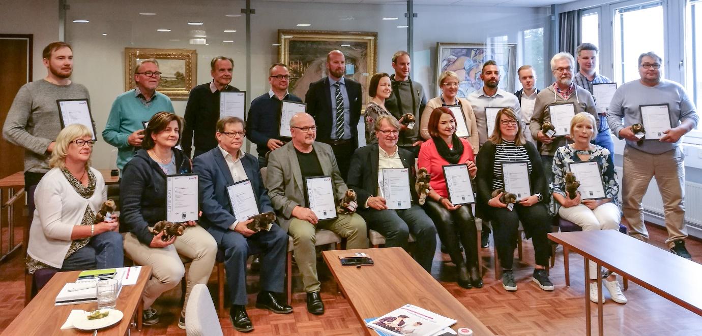 Uusyrityskeskusten neuvonnalla laatutakuu – Kiwa Inspecta luovutti ISO 9001 -laatusertifikaatin