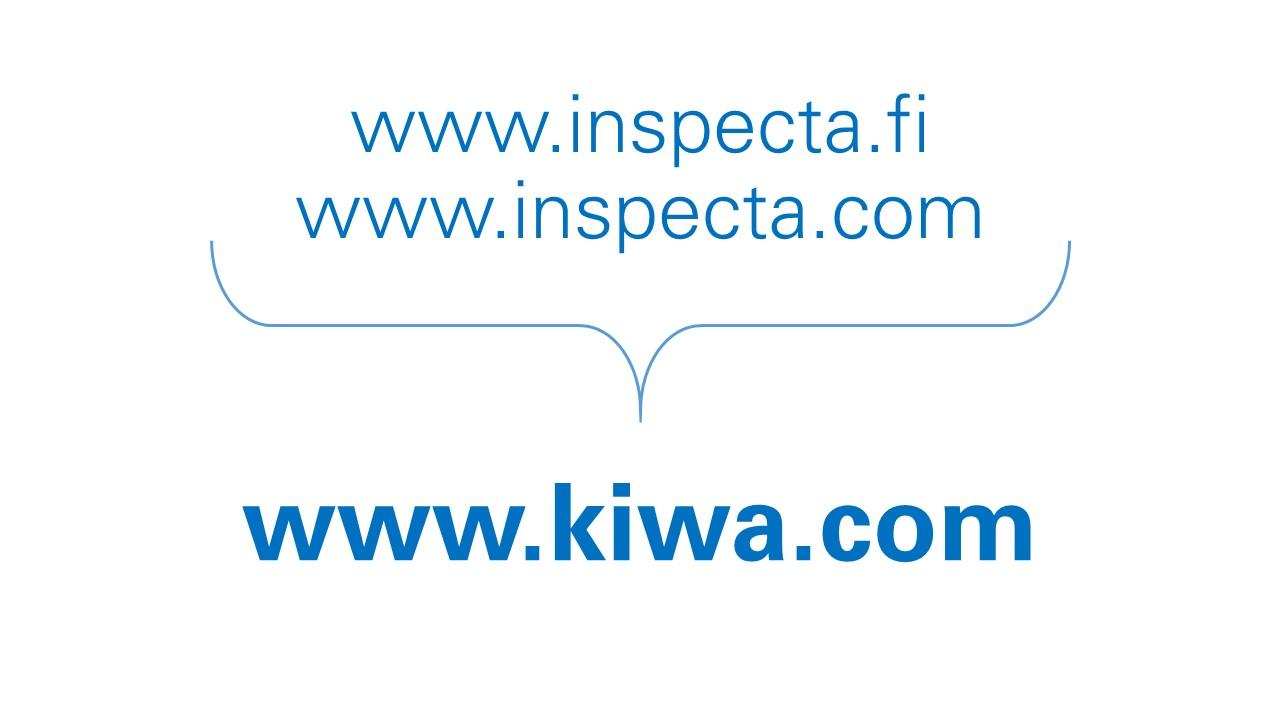 Kiwa Inspectan sähköpostit muuttuvat muotoon etunimi.sukunimi@kiwa.com