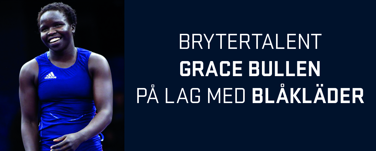 96dace69  Blåkläder på lag med brytertalentet Grace Bullen