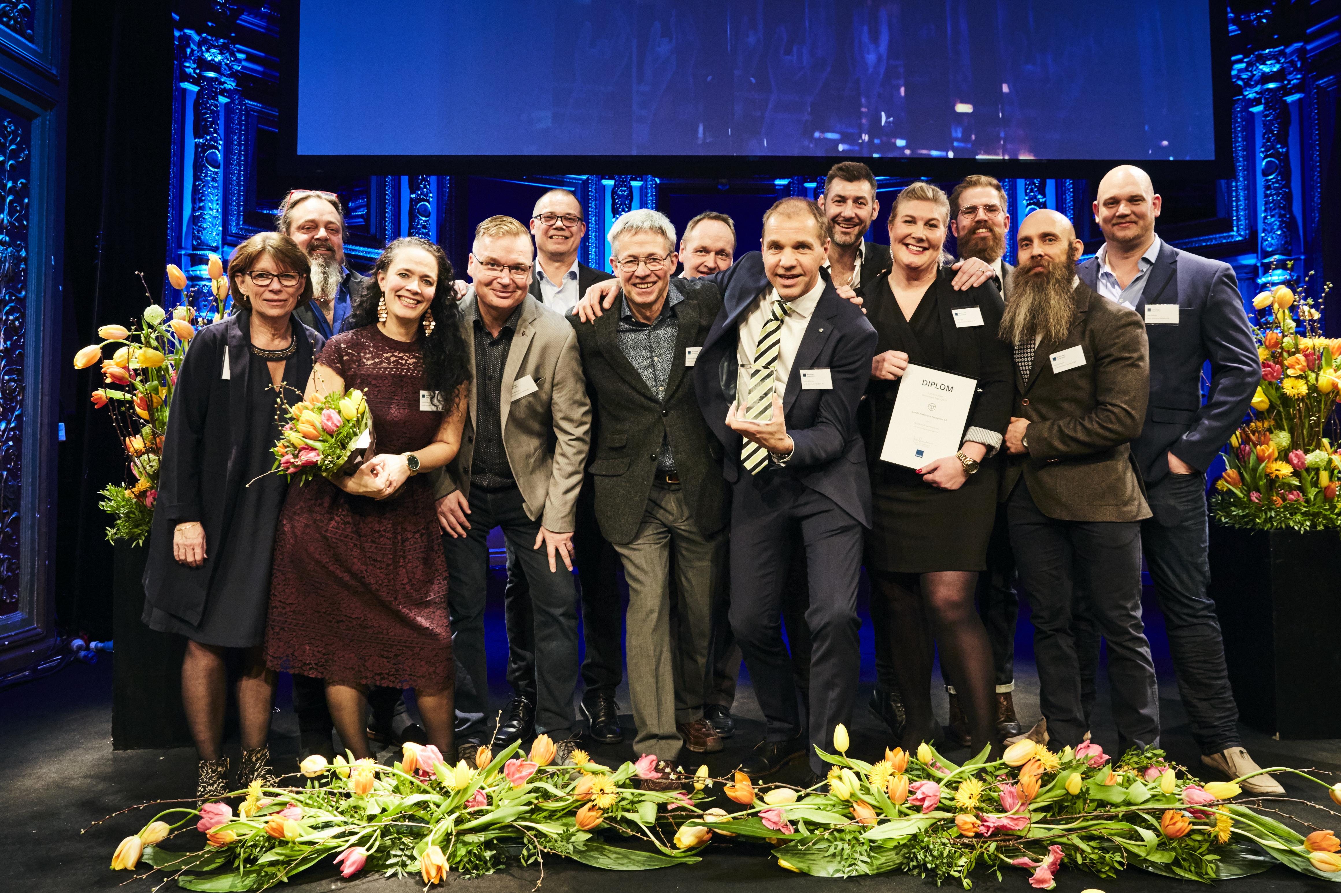 """LKF vann Kundkristallen för """"största lyft service index""""- största ökning av flest nöjda kunder i Sverige!"""