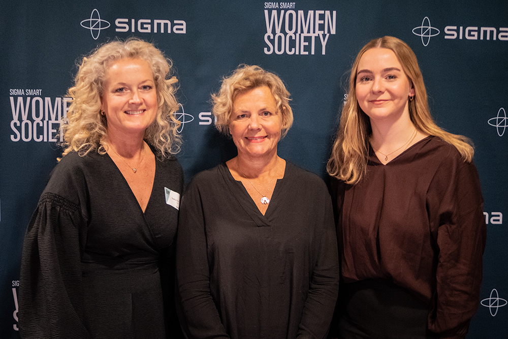 Participants at Sigma's network meeting in Gothenburg, from left: Beatrice Silow, Communications and Culture Manager at Sigma IT; Anna Serner, CEO of the Swedish Film Institute; Greta Braun, Project Manager at Production for Future.