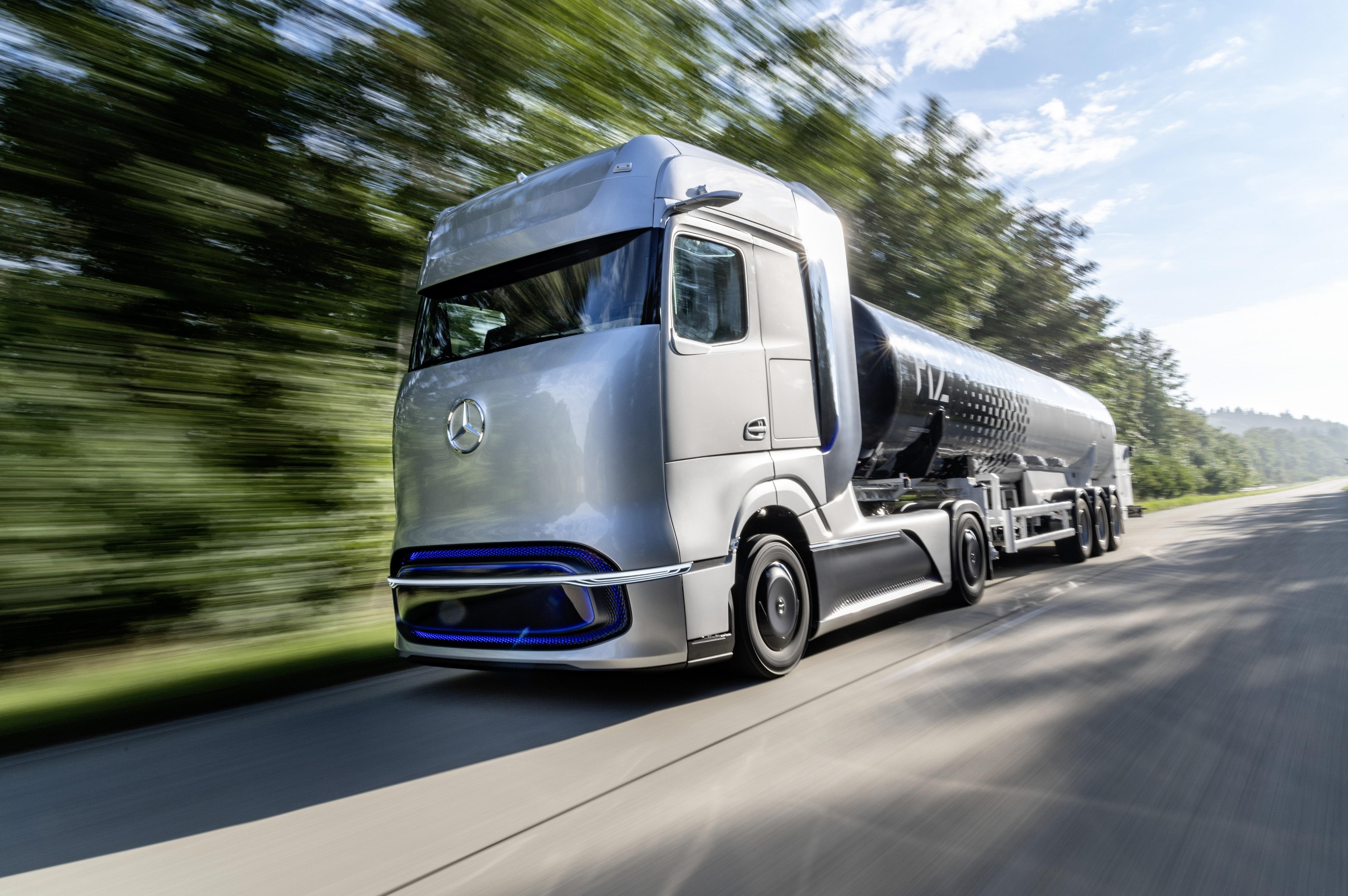 Lastbilsjättar och bränslebolag i samarbete: Ska skapa mass-marknad för väte som lastbilsdrivmedel.