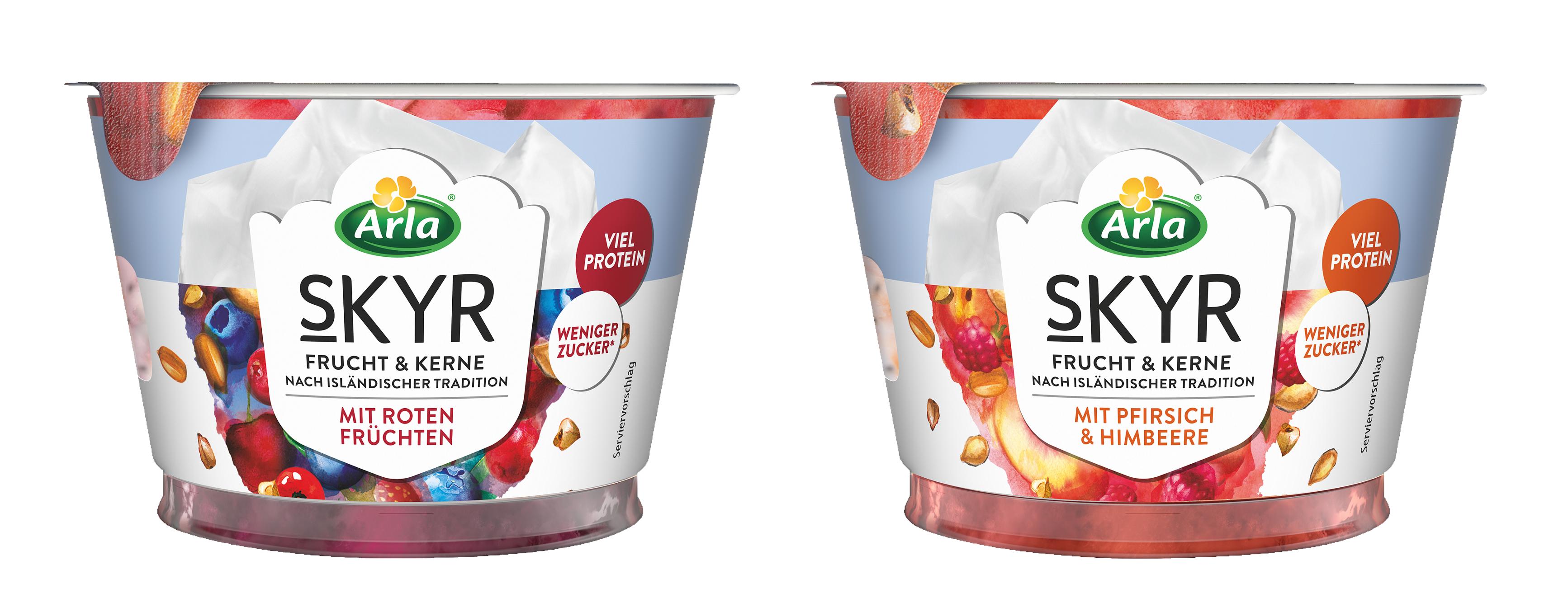 Neu: Arla Skyr Frucht & Kerne – die besondere Zwischenmahlzeit mit extra 'Biss'