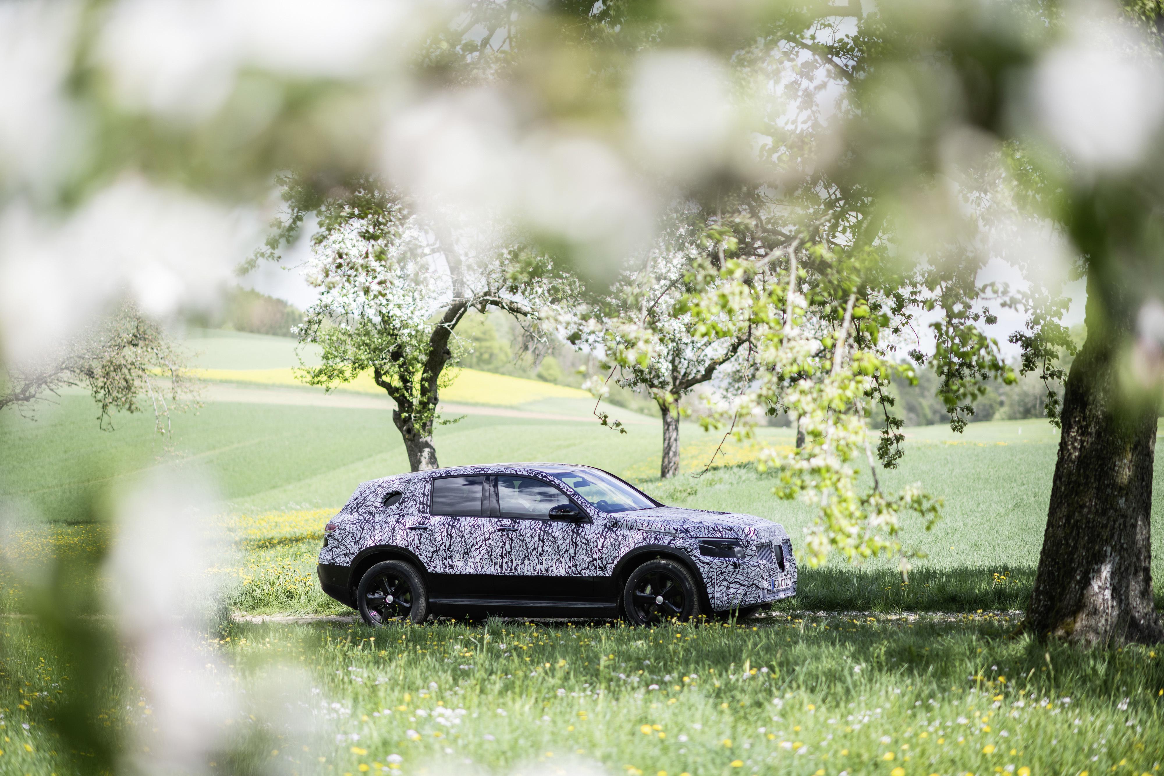 Smygprovkörning av Mercedes nya elbil