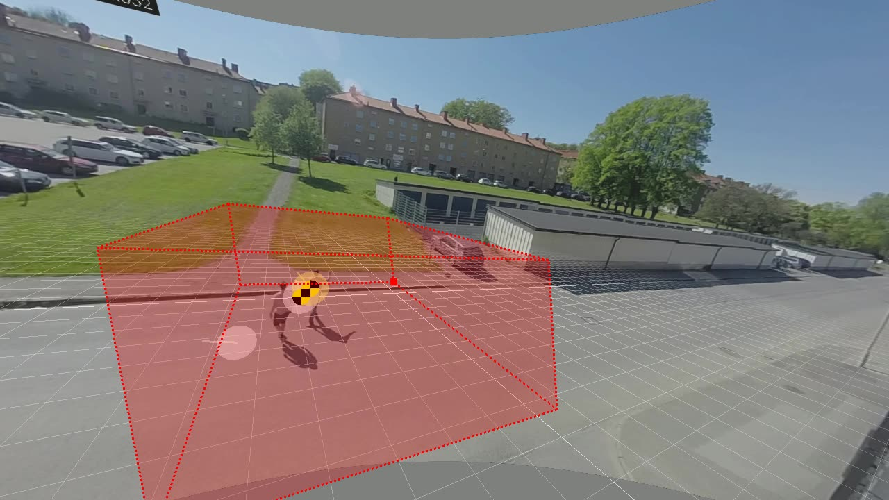 77 GHz Radar, Multiple object tracking, two people passing